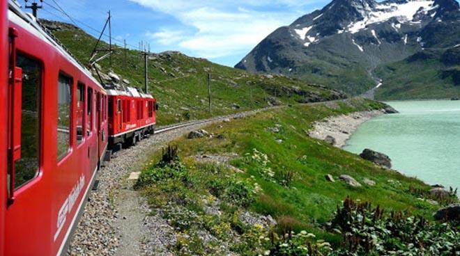 Il trenino rosso della Bernina